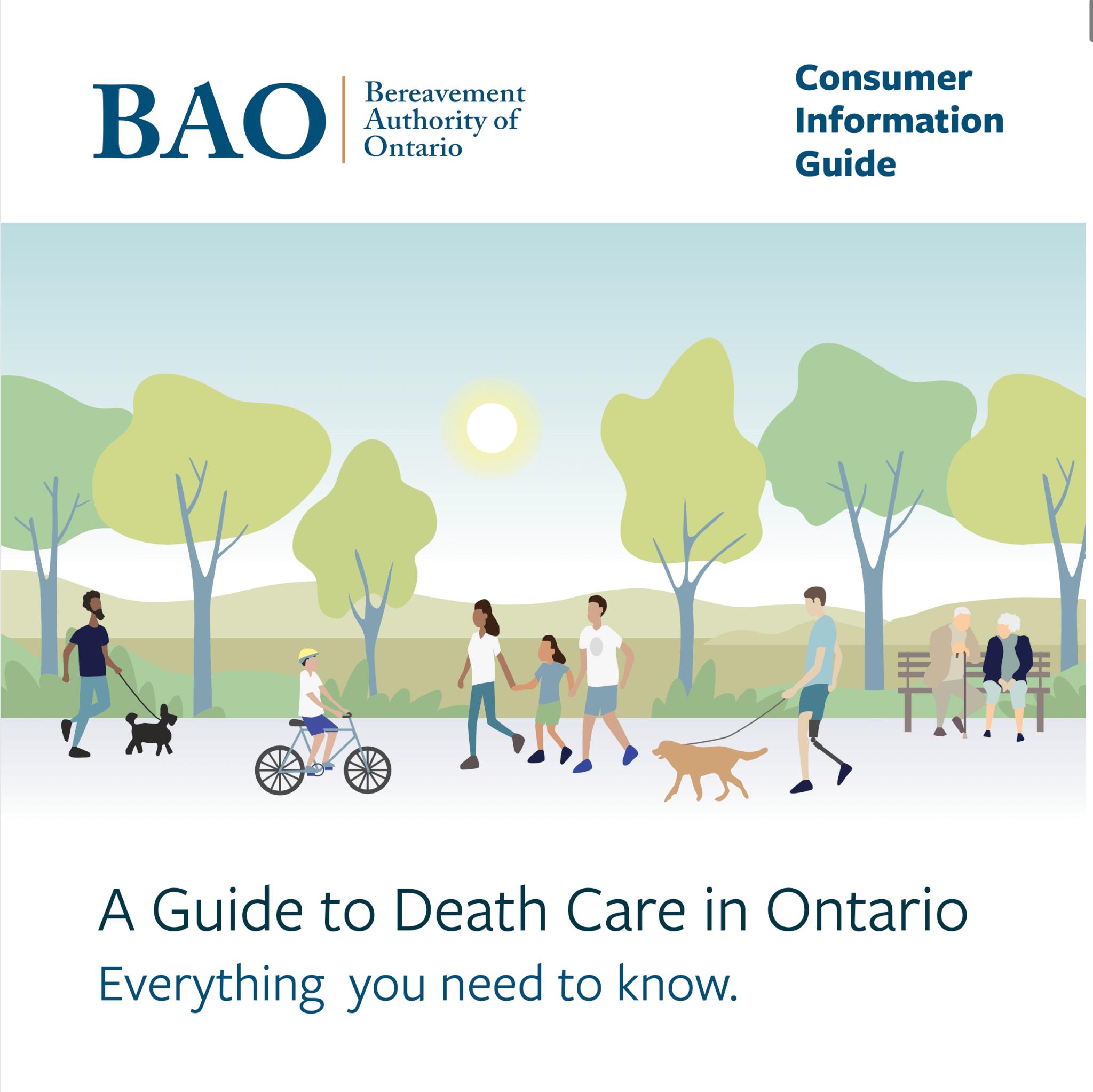 ontario death care guide